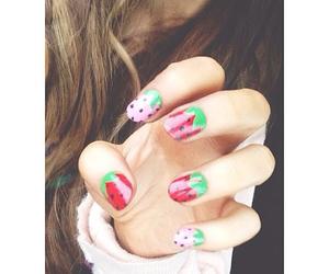 ariana grande, nails, and strawberry image