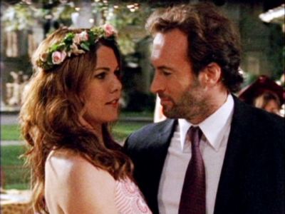 couple, luke and lorelai, and love image
