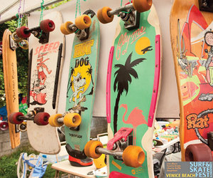 beach, colorful, and skate image