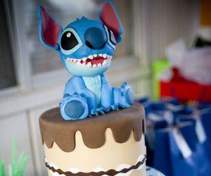 cake, stitch, and stich image