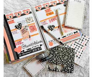 planner, washi tape, and cute image
