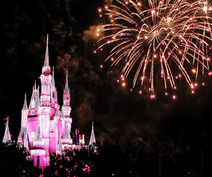 disney, fireworks, and girl image