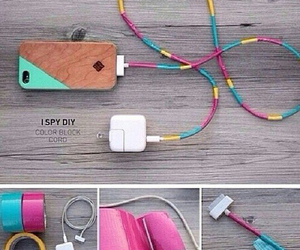 diy, charger, and phone image
