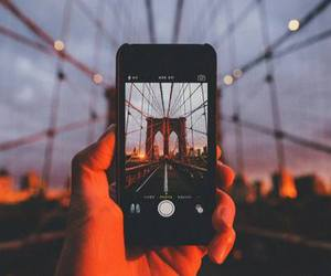 iphone, photo, and bridge image
