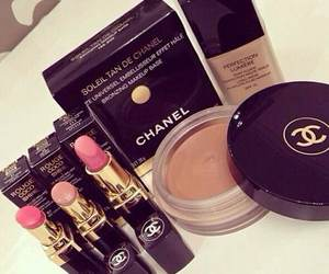 chanel, make up, and lipstick image