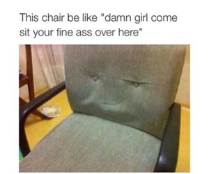 chair, funny, and girl image