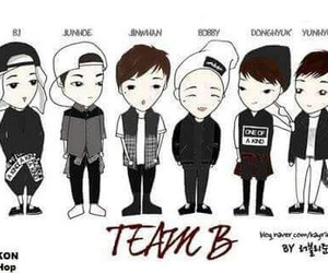 Ikon, team b, and yg image
