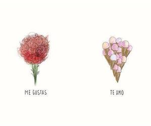 love, rose, and te amo image