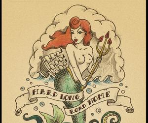 mermaid and paint image