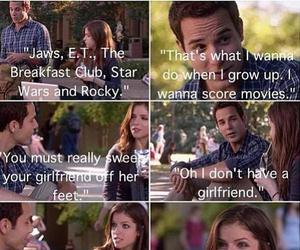 jesse, beca, and pitch perfect image