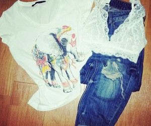 elephant, fashion, and outfit image