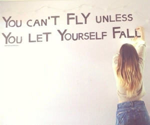 quote, fall, and fly image
