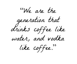 coffee, vodka, and generation image