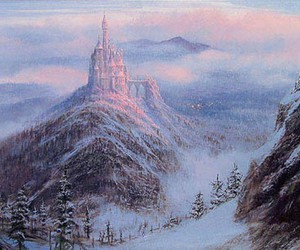 castle, winter, and disney image