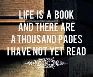 book, life, and quote image