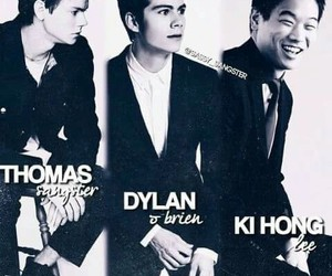 thomas brodie sangster, ki hong lee, and maze runner image