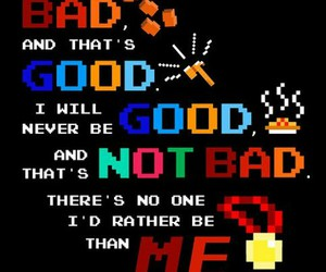 bad, good, and me image