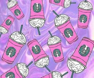 starbucks, wallpaper, and pink image