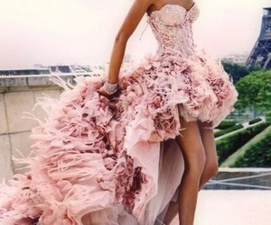 dress, pink, and paris image