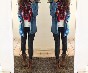 boots, outfit, and pants image