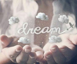 Dream, clouds, and hands image