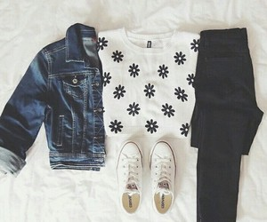 black, converse, and casual image