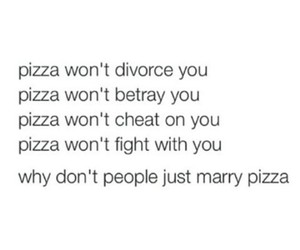 pizza and quote image