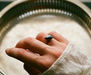 hand, ring, and vintage image