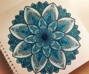 blue, art, and drawing image