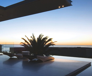 luxury, ocean, and sunset image