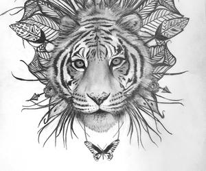 tiger, art, and beautiful image