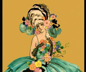 1920s, flowers, and gloves image