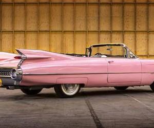 cadillac, car, and pink image