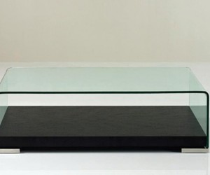 glass coffee table and modern table image