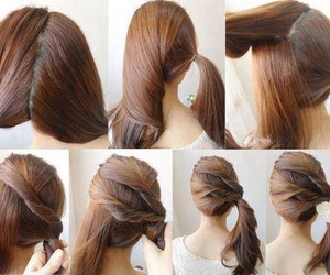 braid, curl, and pony image