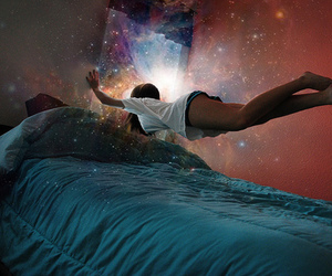 girl, Dream, and bed image