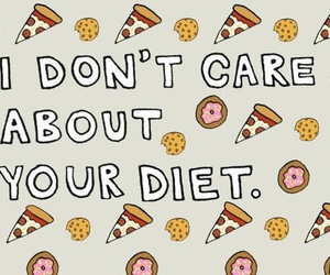 food, diet, and pizza image