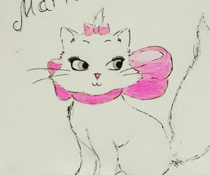 cat, draw, and marie image