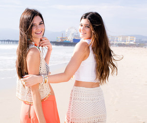 beach, sisters, and jenners image