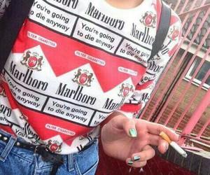 marlboro, cigarette, and smoke image
