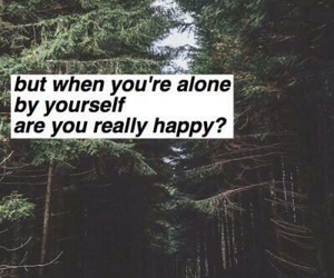 alone, happy, and grunge image