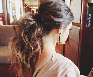 hair, hairstyle, and ponytail image