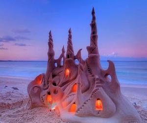 castle, beach, and sand image