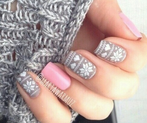 aztec, grey, and nailpolish image