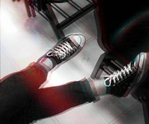 black and white, converse, and grunge image