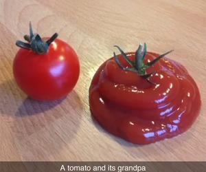 funny, tomato, and grandpa image