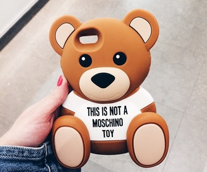case, Moschino, and bear image