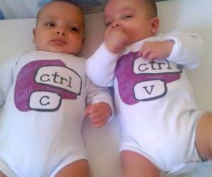 baby, twins, and funny image