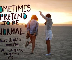 normal, quote, and beach image