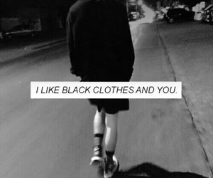 black, grunge, and clothes image